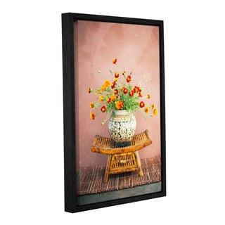 ArtWall Elena Ray ' Asian Floral ' Gallery-Wrapped Floater-Framed Canvas