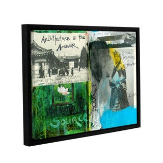 ArtWall Elena Ray ' Art Journal Architecture ' Gallery-Wrapped Floater-Framed Canvas - Multi