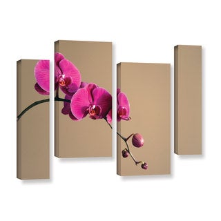 ArtWall Elena Ray ' Magenta Orchid 4 Piece ' Gallery-Wrapped Canvas Staggered Set