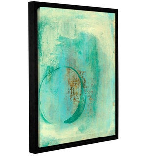 ArtWall Elena Ray ' Teal Enso ' Gallery-Wrapped Floater-Framed Canvas