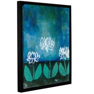 ArtWall Elana Ray ' Lotus Blossom ' Gallery-Wrapped Floater-Framed Canvas