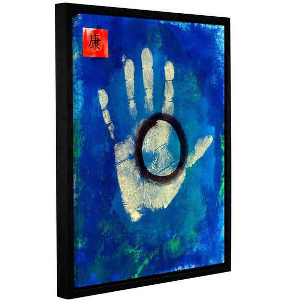 ArtWall Elana Ray ' Health Hand ' Gallery-Wrapped Floater-Framed Canvas - Multi