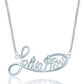 Unending Love Sterling Silver Diamond Accent Loving Arms Necklace