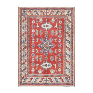 Herat Oriental Afghan Hand-knotted Tribal Vegetable Dye Kazak Wool Rug (3'11 x 5'7)