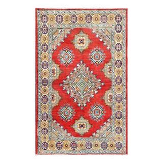 Herat Oriental Afghan Hand-knotted Tribal Vegetable Dye Kazak Wool Rug (4' x 6'5)