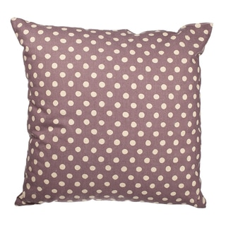Lavender Canvas Polka Dot 18-inch Throw Pillow