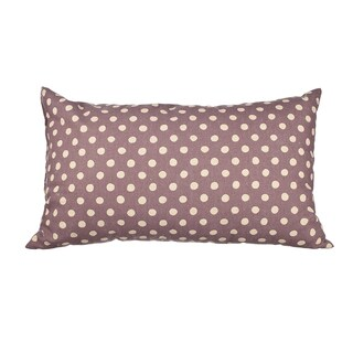 Lavender Canvas Polka Dot 20-inch Throw Pillow