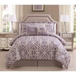 Laugh 7-piece Comforter Set (Option: Lavander)