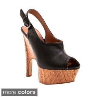 Gomax Women's Tiny Dancer-07 Slingback Open-Toe Sequined Platform Heels