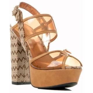 Gomax Women's Beyond Compare-05 Lucite Platform Sandal