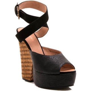 Gomax Women's Limited Edition-01 Criss Cross Ankle Strap Platform Sandal