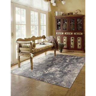 Rug Squared Stanford Ivory Slate Accent Rug (2'6 x 4'2)