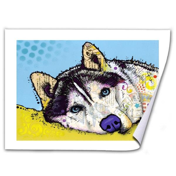 Dean Russo 'Siberian Husky II' Rolled Paper Art
