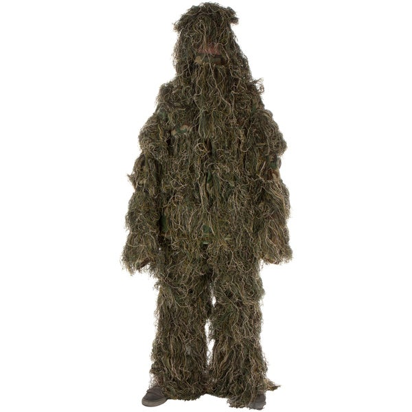 Ghillie Suit 3-piece Set Adult Size Woodland and Forest Design One Size Fits Most Adults M-XXL by Modern Warrior
