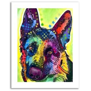 Dean Russo 'German Shepherd' Rolled Paper Art