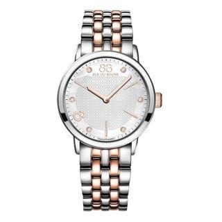 Rue Du Rhone Women's 87WA140005 'Double 8' Diamond Two-Tone Stainless steel Watch