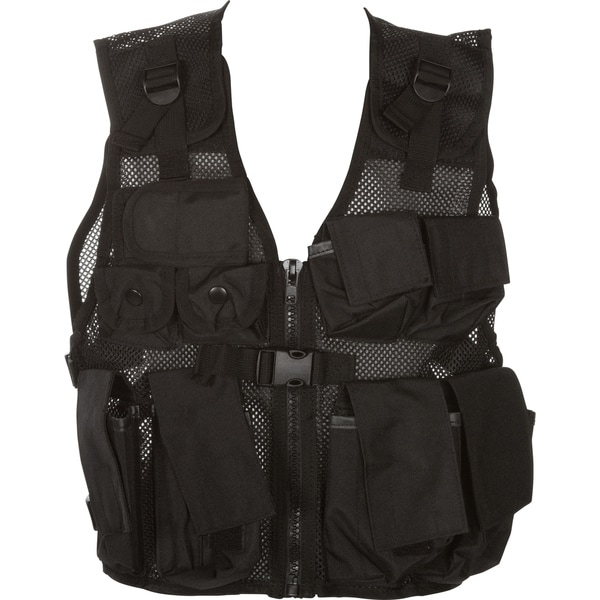 Modern Warrior Junior Black Tactical Vest Fits Children and Teens 50-125-pounds Airsoft and Paintball Accessory