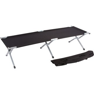 Trademark Innovations Aluminum Portable Folding Camping Bed and Cot Portable Bed 260-pounds Capacity