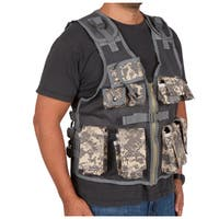 Modern Warrior Junior Black Tactical Vest Fits 50-125-pounds Airsoft and Paintball Accessory (Camo)