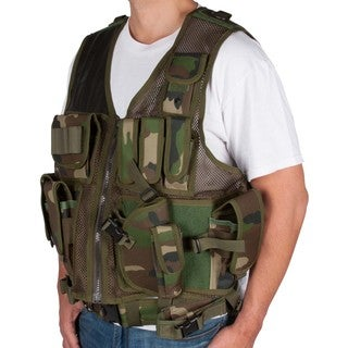 Camouflage Tactical Airsoft and Hunting Vest Camo Style Universal Size