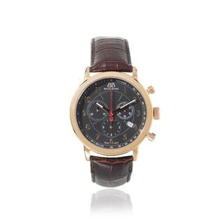 Rue Du Rhone Men's 87WA120050 'Double 8' Chronograph Brown Leather Watch