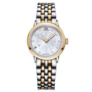 Rue Du Rhone Women's 87WA120059 'Double 8' Diamond Two-Tone Stainless steel Watch