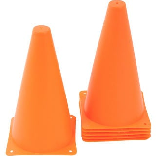 9-inch Plastic Cone Orange Sports Training Gear (Pack of 12)