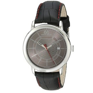 Rue Du Rhone Men's 87WA140026 'Double 8' Black Leather Watch