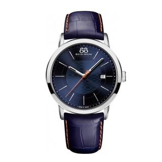 Rue Du Rhone Men's 87WA140023 'Double 8' Blue Leather Watch