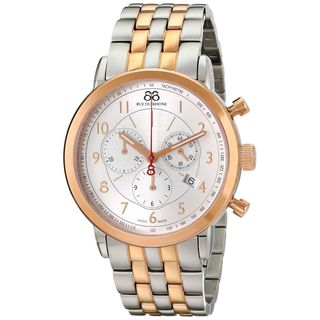 Rue Du Rhone Men's 87WA120057 'Double 8' Chronograph Two-Tone Stainless steel Watch