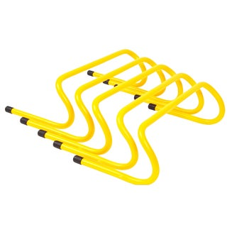 Trademark Innovations Yellow 6-inch Speed Training Hurdles (Pack of 5)
