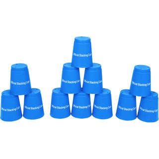 Quick Stack Cups Blue Speed Training Sports Stacking Cups (Set of 12)