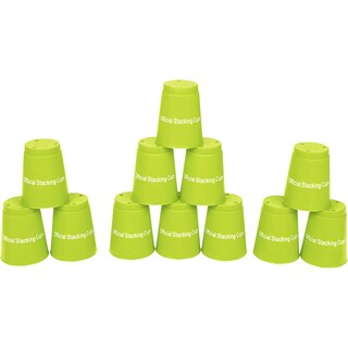 Quick Stack Cups Green Speed Training Sports Stacking Cups (Set of 12)