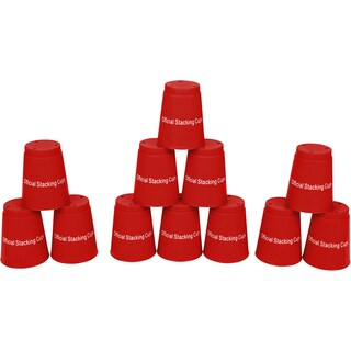 Quick Stack Cups Red Speed Training Sports Stacking Cups (Set of 12)