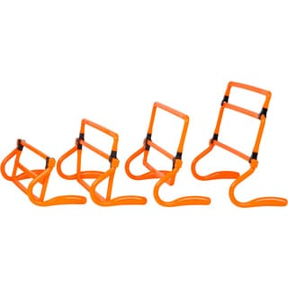 Trademark Innovations Orange Adjustable Speed Training Hurdles (Set of 5)