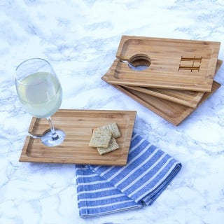 Personalized Bamboo Wine and Dine Appetizer Trays