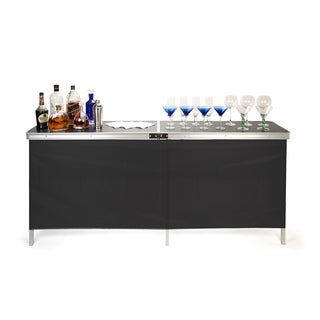 Trademark Innovations Portable Bar Table - Two Skirts and Carrying Case Included