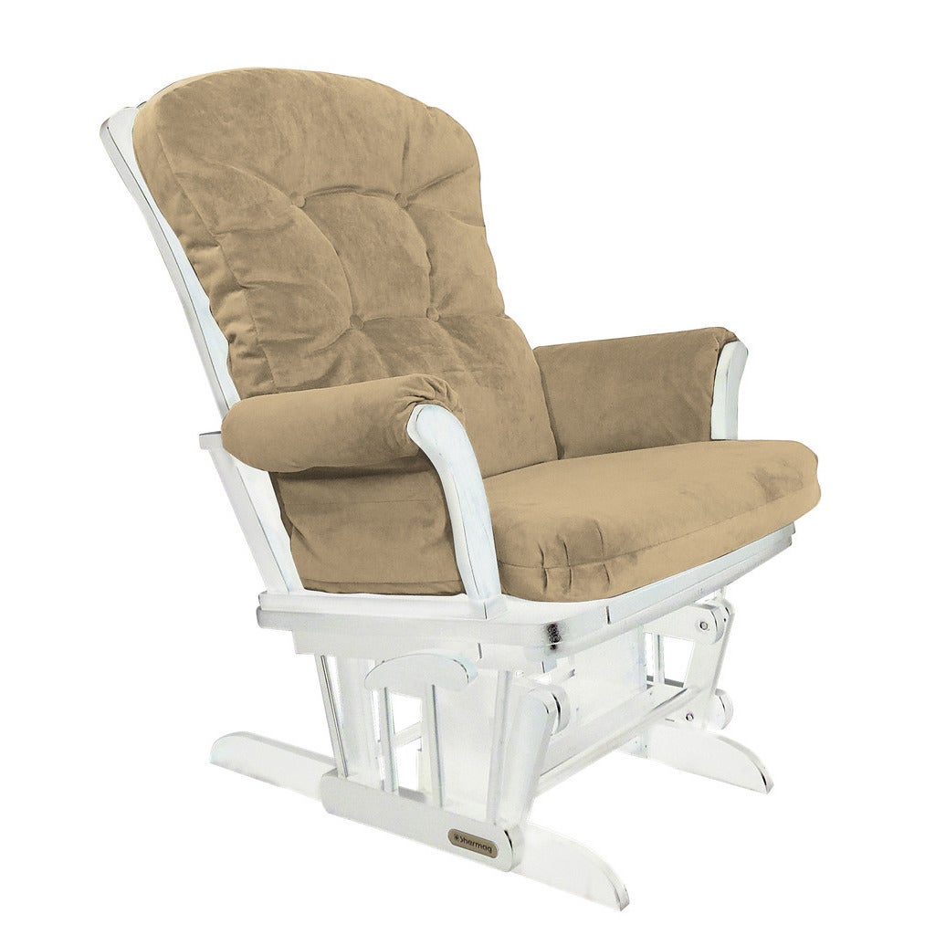 Shermag Upholstered Brown Glider Rocker Recliner Combo wi...