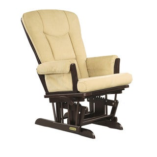 Shermag Espresso/ Vista Biscuit Glider Recliner With Lock Mechanism