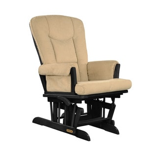 Shermag Ebony/ Vista Biscuit Glider Recliner With Lock Mechanism