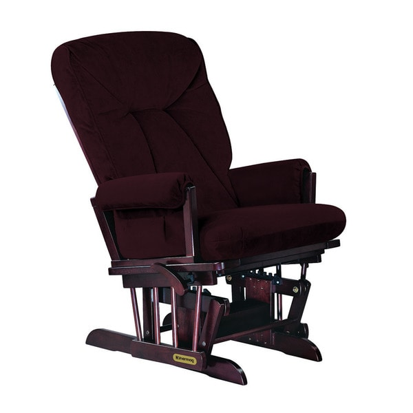 Shermag White Glider Recliner With Lock Mechanism Free Shipping Today Ove