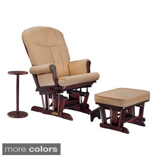 Shermag Brown Glider Rocker and Ottoman Combo