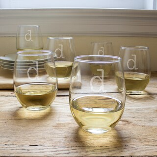 15-ounce Personalized Stemless Wine Glasses (Set of 6)