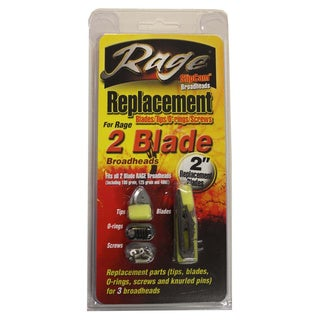 Rage Replacement Blades 2-Blade 2-inch Cut (Pack of 6)
