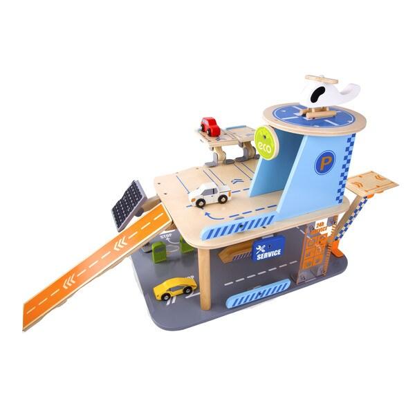 Classic World Eco-Friendly Wooden Garage Playset