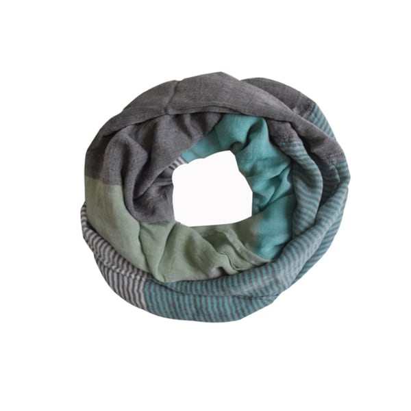 Peach Couture Mint Sassy in Stripes Vintage Style Infinity Loop Scarf. Opens flyout.