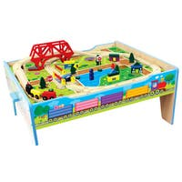 Homewear 50-piece Wood Farm Train Table
