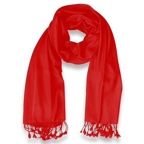 Peach Couture 100-percent Cashmere Red Shawl