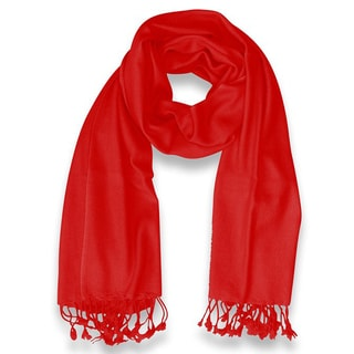 Peach Couture 100-percent Cashmere Red Shawl