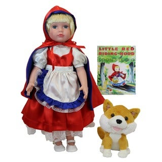 Dazzleworks 18-inch Deluxe Once Upon a Time Little Red Riding Hood Storybook Doll|https://ak1.ostkcdn.com/images/products/10234887/P17355471.jpg?_ostk_perf_=percv&impolicy=medium